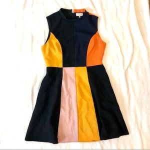 Harlyn Retro 60s Inspired Color Block A-line Dress